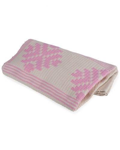 Addis Soft Cotton Throw Pink