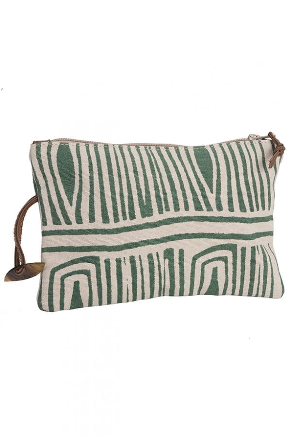 Afar travel / make up clutch - Green Fossil